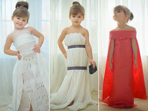 Meet the 4 year old who crafts celeb worthy gowns out of for Crafts for 4 and 5 year olds